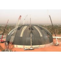 Prefab modular high strength & light weight steel structure coal storage space frame roofing system thumbnail image