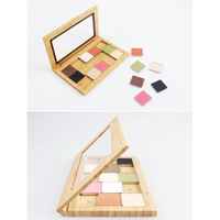 Free Combination Nature Bamboo Eye Shadow Cases