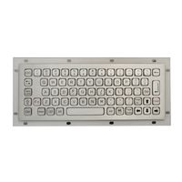 K-TEK-A272-DWP IP67 Washable Vandal Proof Stainless Steel Industrial Keyboard