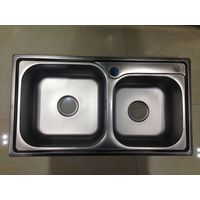 Factory directly supply apartment size rectangular double bowl kitchen washing sink 7843A