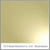 stainless steel sheets-bead blasted-Golden
