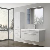 MDF Modern High-End Oak Bath Cabinet Unit Design New Style Bathroom Furniture-M7021