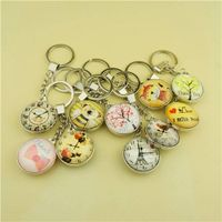 Zinc Alloy Keychain with Single Side Custom Printing Dome Crystal thumbnail image