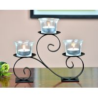 black table metal candle holder for home decoration