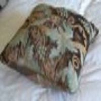 crewel pillow grapevine deep  olive cotton viscose velvet pillow (16x16)