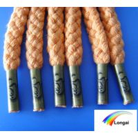 Garment use round braided 100% polyester rope cord