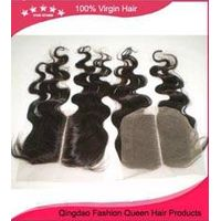 New arrival brazilian remy human hair body wave middle part 4*4 lace closure