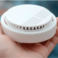 Haisheng EN 14604 certified 9V 10 year lithium battery photoelectric smoke detector HS-DG812 with lo