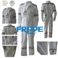 White Ripstop Lightweight Fire Retardant Coveralls /safety clothing