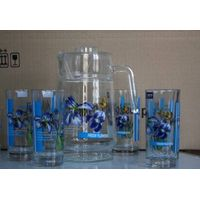 Jesin Glass Pot with cups