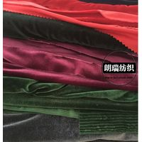 spandex velvet 230gsm black blue green gray red sp fleece flannel 4 way stretch fabric