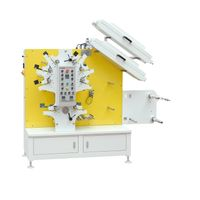 JR-1262 (6Colors+2Colors) Textile Tape Printing Machine /Flexo Fabric Ribbon Label Printing Machine