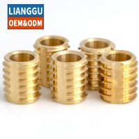 Customized brass Slotted thin-walled self-tapping Sharp threads inserts thumbnail image