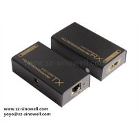 HDMI DVI Cable EXTENDER Adapter Repeater by Single Cat5 Cat5e Cat6 Cables ,Extension 60m BALUN1080p thumbnail image