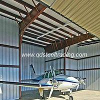 steel structure fabricated plane hangar