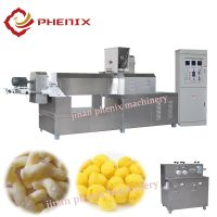 crispy puffed corn snack food extruder making machine