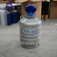 Liquid nitrogen dewar tank 50 Liter cryogenic container gas cylinder 50L