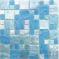 Bluwahle antiskid melt glass mosaic tile ,mosaic pool tiling