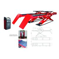 Ultra thin scissor alignment lift,capacity:4500kgs