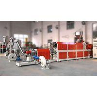 plastic PP PE HDPE LLDPE+ CaCO3 filler masterbatch extrusion machine