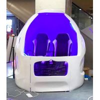 9D VR Capsule , Virtual Reality Games Simulator With Two Seats