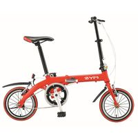 Alu mini 14inch folding bike of red color