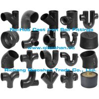 CISPI301 ASTM A888 Cast Iron No-Hub Soil Fittings for Sanitary and Storm Drain, Waste and Vent Pipes