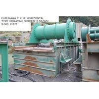"USED ""FURUKAWA"" 7' X 16' HORIZONTAL TYPE VIBRATING SCREEN (2 DECKS) S/NO. 01077 thumbnail image"