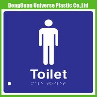 Plastic Toilet Sign For Braille Sign Signage