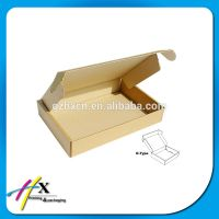 Customized corrugated cardboard tuck top mailing boxes