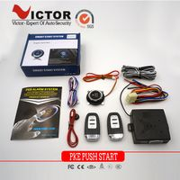 PKE Car Alarm system with Push start button remote engine start VT-PS203