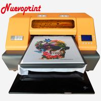 Best UV flatbed t-shirt textile fabric garment printing printer price NVP1390