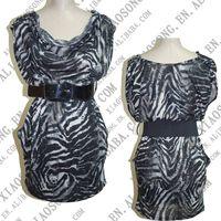 leopard cocktail dress