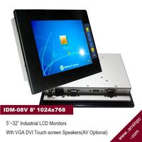 """8"""" Industrial LCD Display Monitor with touch screen"""