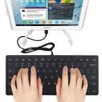 Full Size Micro USB Keyboard for Samsung, Google and Most Android Tablets and Smartphones WKEYAND