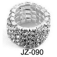Rhinestone stretch ring, bracelet  JZ-090