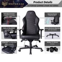 VICTORAGE Echo VE Series PU Leather Office Chair Home Seat(Carbon) thumbnail image