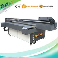 CE Approved high quality NTEK UV Flatbed printer,3D gifts box/bamboo fiber board/birthday candle pri