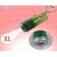 50*20mm led projector keychain can shaped