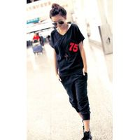 Vogue Style Printed Short Sleeves Casual Suit thumbnail image