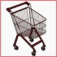 60L used European style supermarket shopping trolley thumbnail image