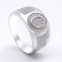 2017 fashion zircon engagement 925 sterling silver men's ring designs from China manufacturer