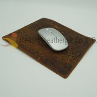 Genuine Leather Mouse Pad with Double Sided