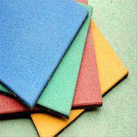 High density Gym fitness outdoor rubber mats rubber flooring tile thumbnail image