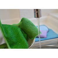 Dual Functional Microfiber Nylon Scrub Kitchen Dish Wash Clean Care Cloth Towel thumbnail image
