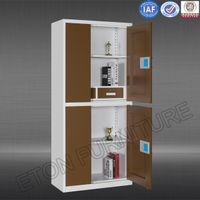 2 Drawer Movable Metal Bank Filing Cabinet