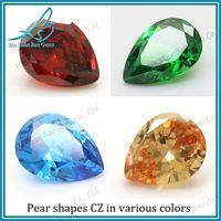 China cubic zirocnia supplier loose pear cz, pear cut cz, pear cubic zirconia thumbnail image