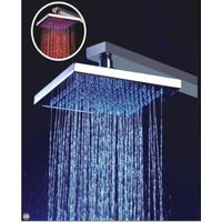 overhead brass led shower head