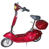 electric scooter with headlight and carry box