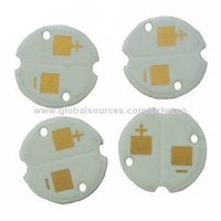 Aluminum PCB for LED Light, with RoHS Mark, 1.6mm Base Material and Black Solder Mask